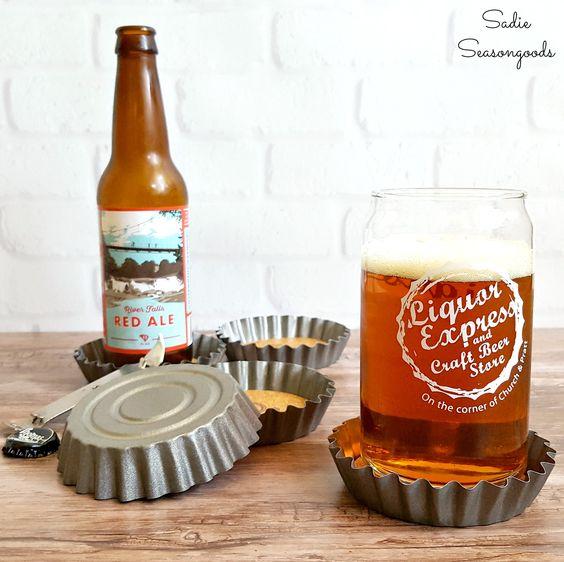 bottle cap beer coasters
