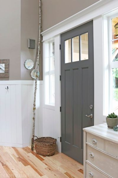gray interior front door