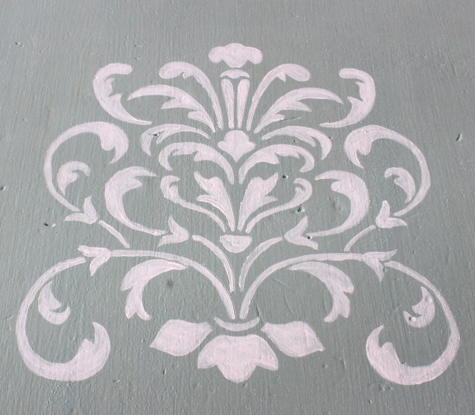 hand painted stencil for furniture