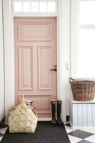 pink entry door
