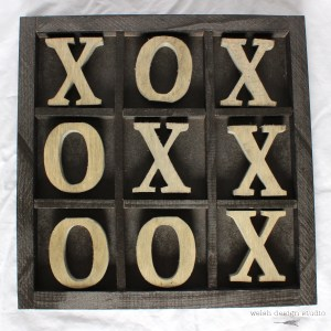 how to make a wooden tic tac toe board