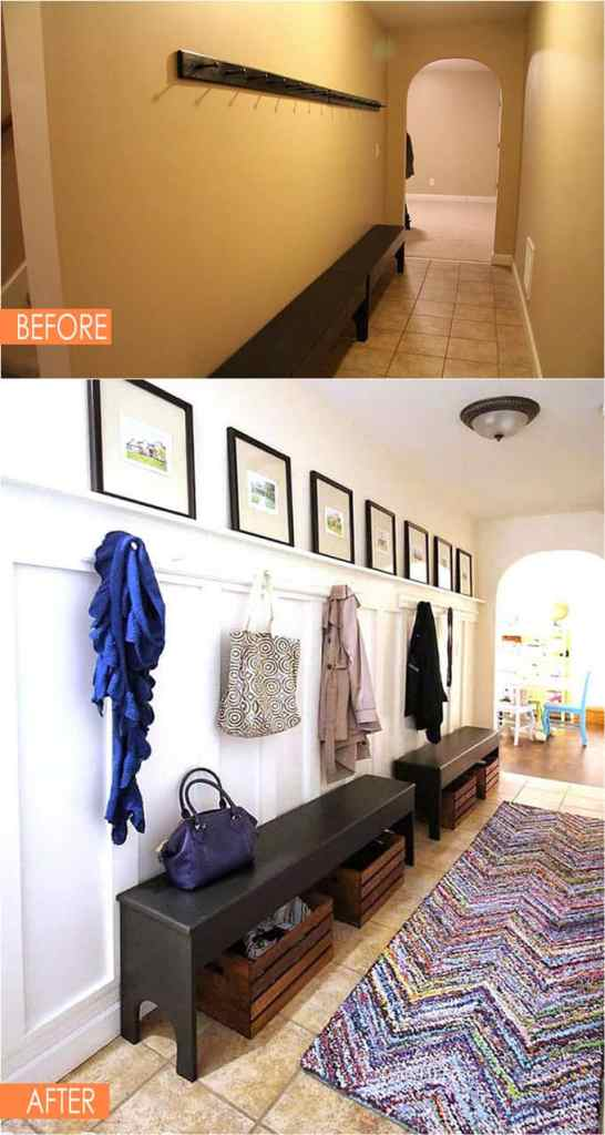 entry wainscoting makeover