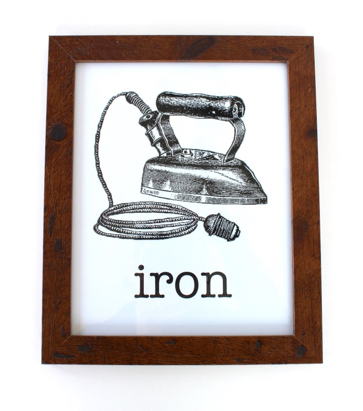 vintage iron framed print