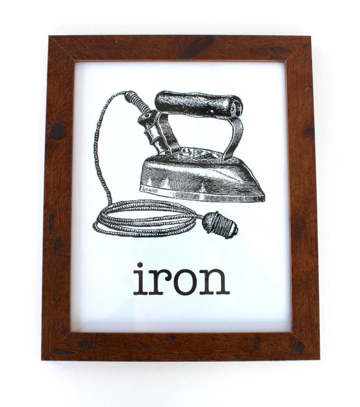 vintage iron framed print
