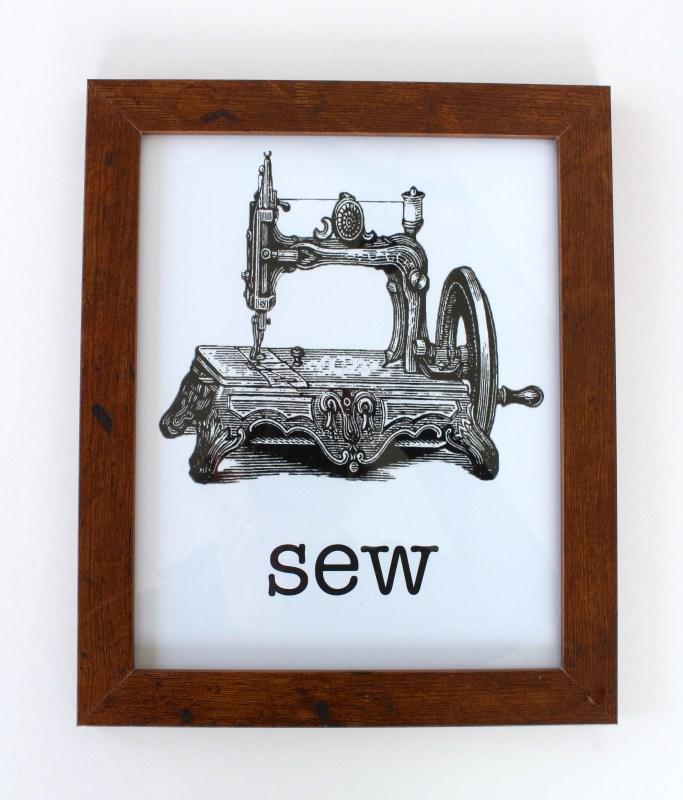 vintage sewing machine art