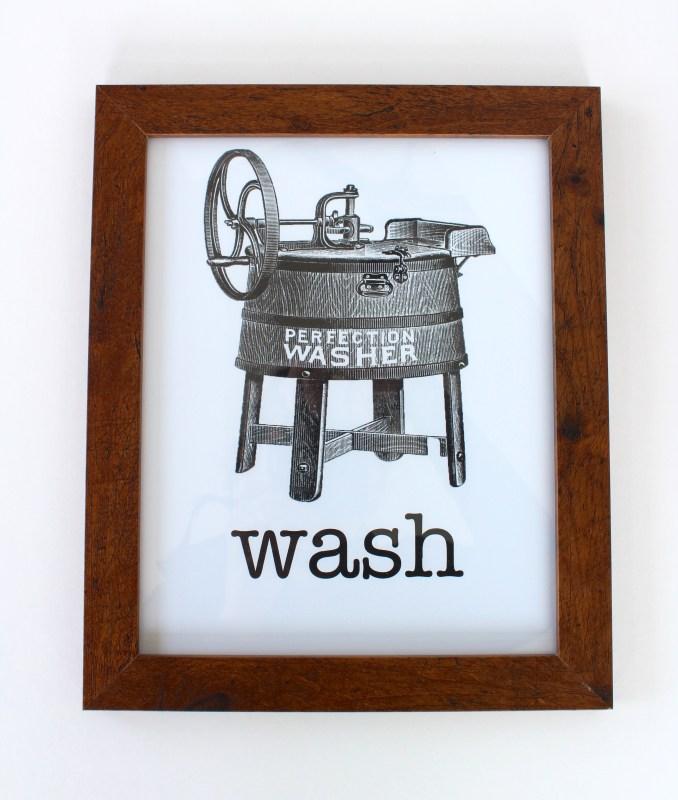 vintage laundry artwork