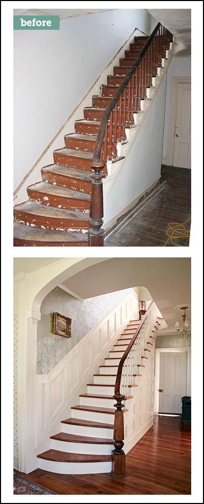 Staircase wainscoting