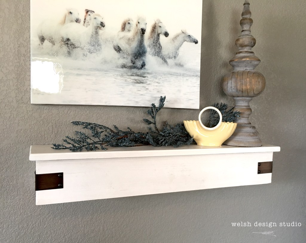 floating white shelves