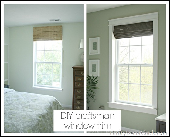 add craftsman character with window trim