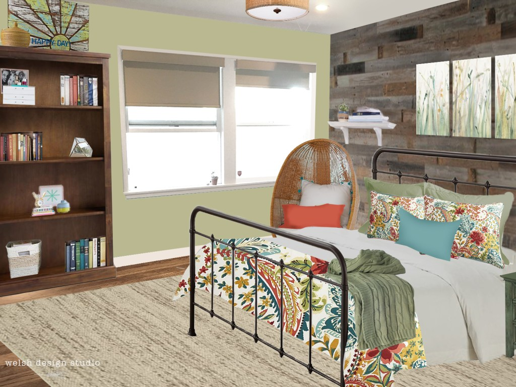virtual room design before after
