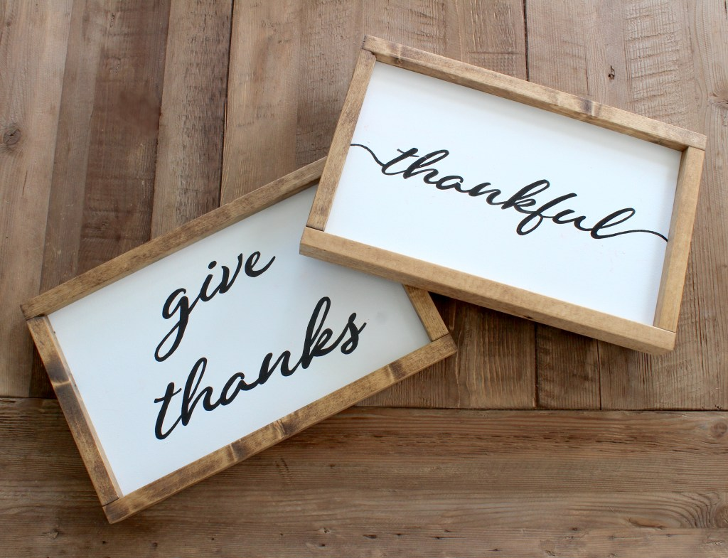 thanksgiving wood signs