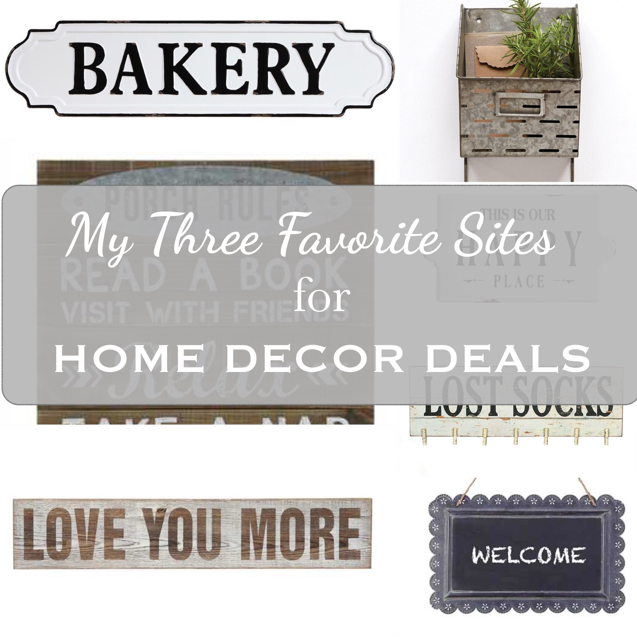 My Three Favorite Sites For Home Decor Deals