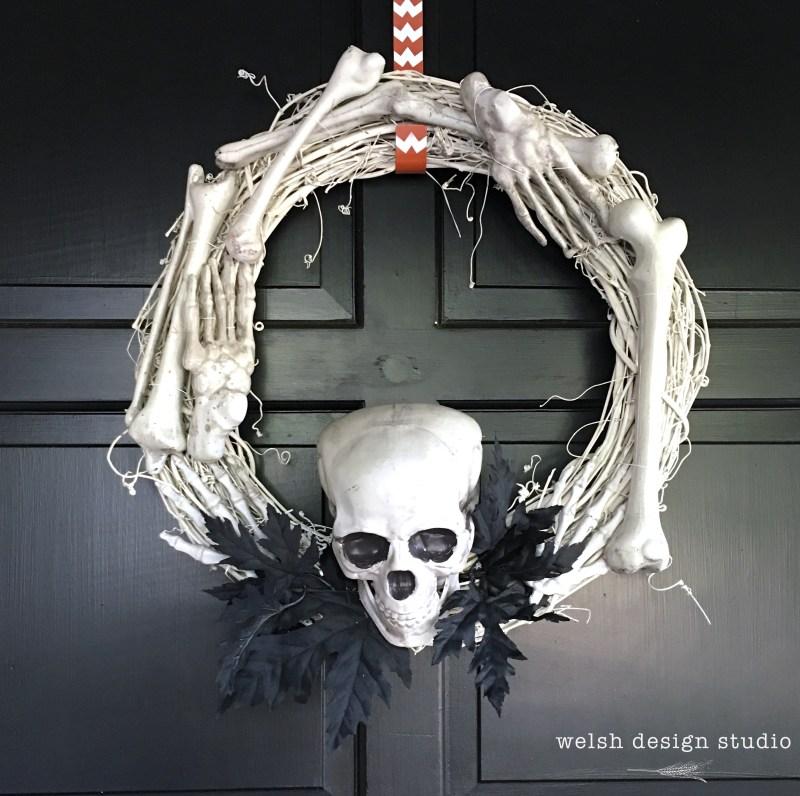 Halloween diy bone wreath