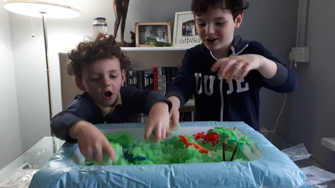 Gelli World, boys playing