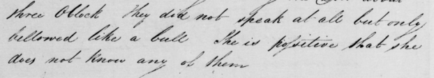 """""""They did not speak at all but only bellowed like bulls"""" Witness statement for 1834 raid on home of Thomas Thomas."""