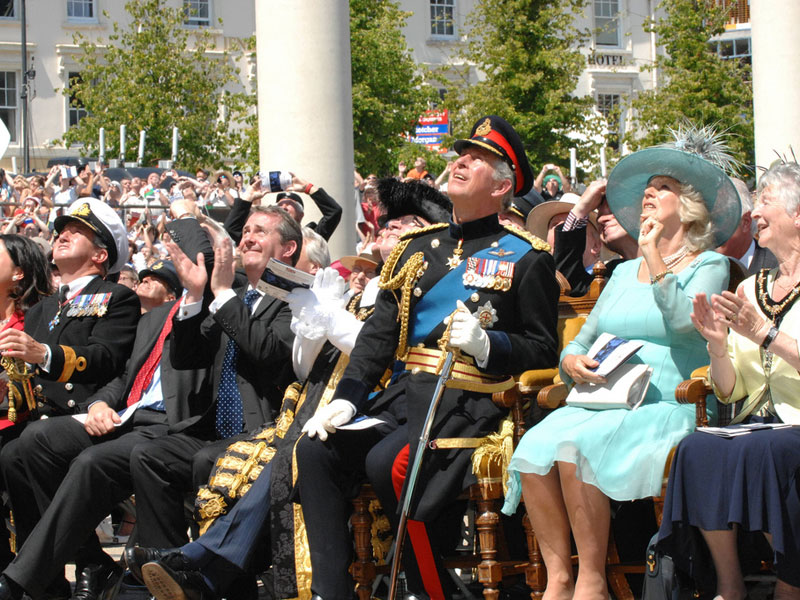 """Cardiff Armed Forces Day """"Oh, yes. A military plane...yes...flying."""""""