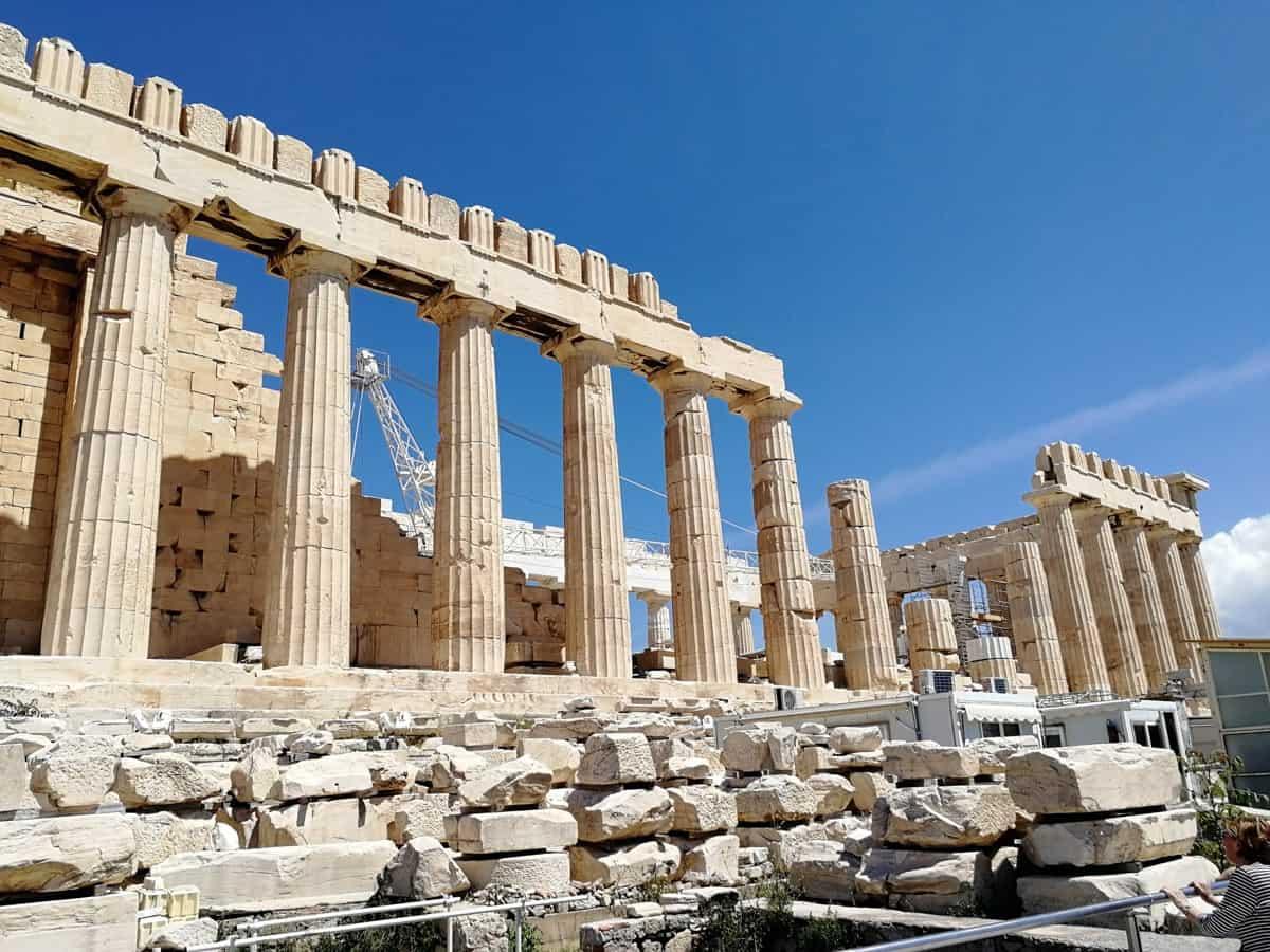 Akropolis über Athen