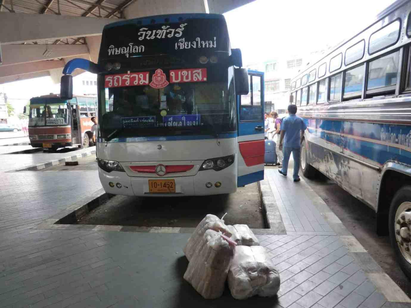 Unser Fernbus nach Chiang Mai