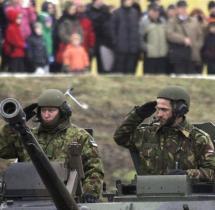 Estland Usa Beteiligen Sich Parade Russlands Grenze