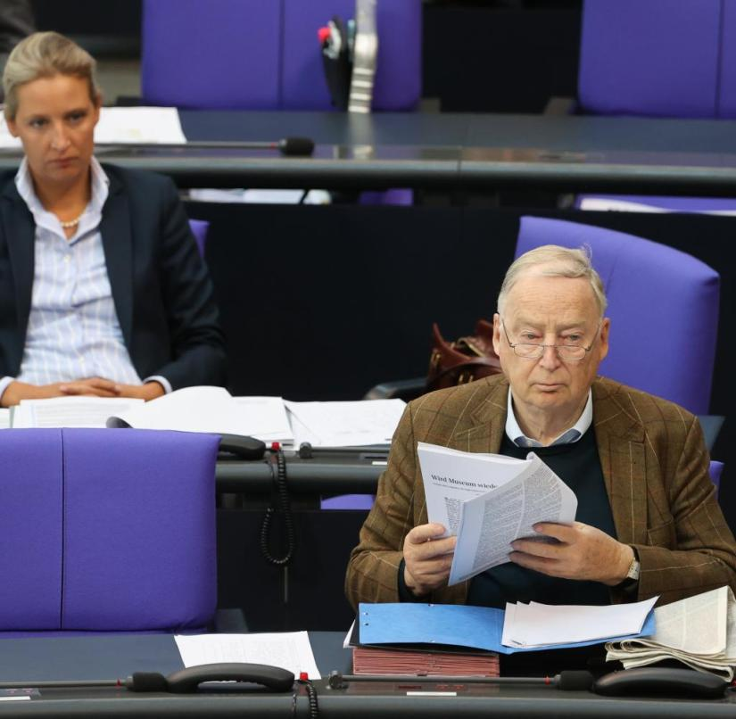 AfD politicians Alice Weidel (left) and Alexander Gauland in the Bundestag - the party is currently suffering losses in polls