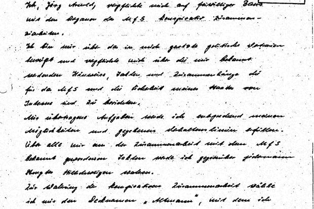 """<br /><br /><br /><br /><br /><br /><br /><br /><br /><br /> Die Verpflichtungsarklärung von Jörg Arnold alias IM """"Altmann""""<br /><br /><br /><br /><br /><br /><br /><br /><br /><br />"""
