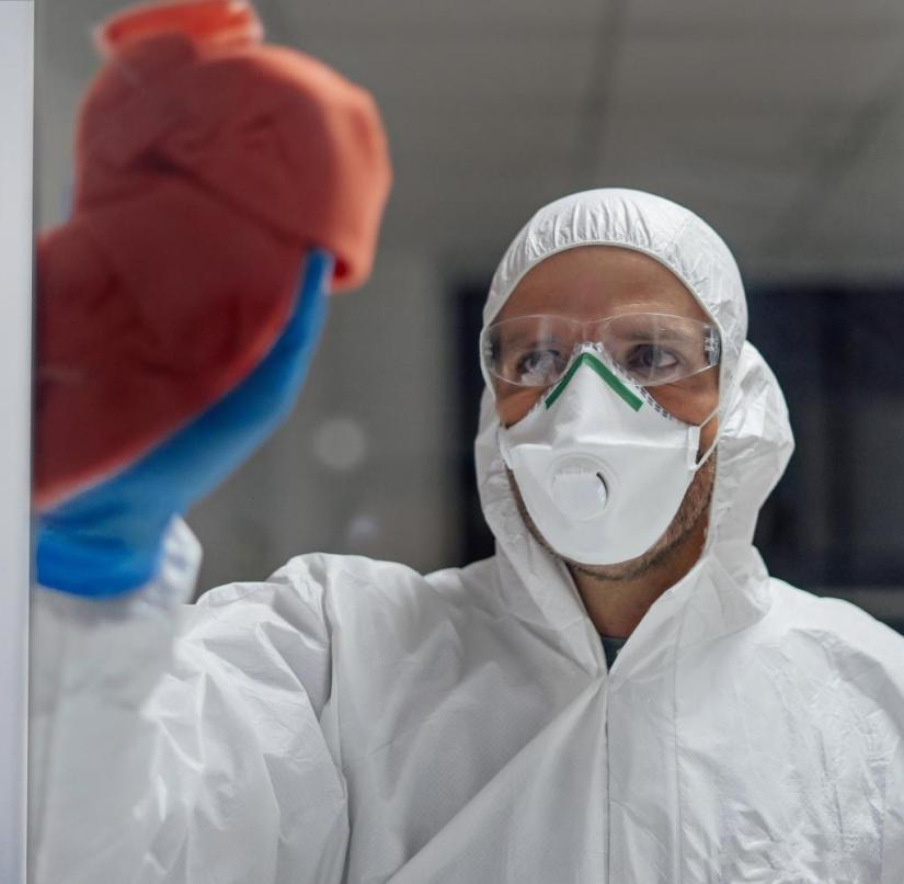 Espain, Madrid. infectious diseases hospital cleaning staff. Virus concept Getty ImagesGetty Images