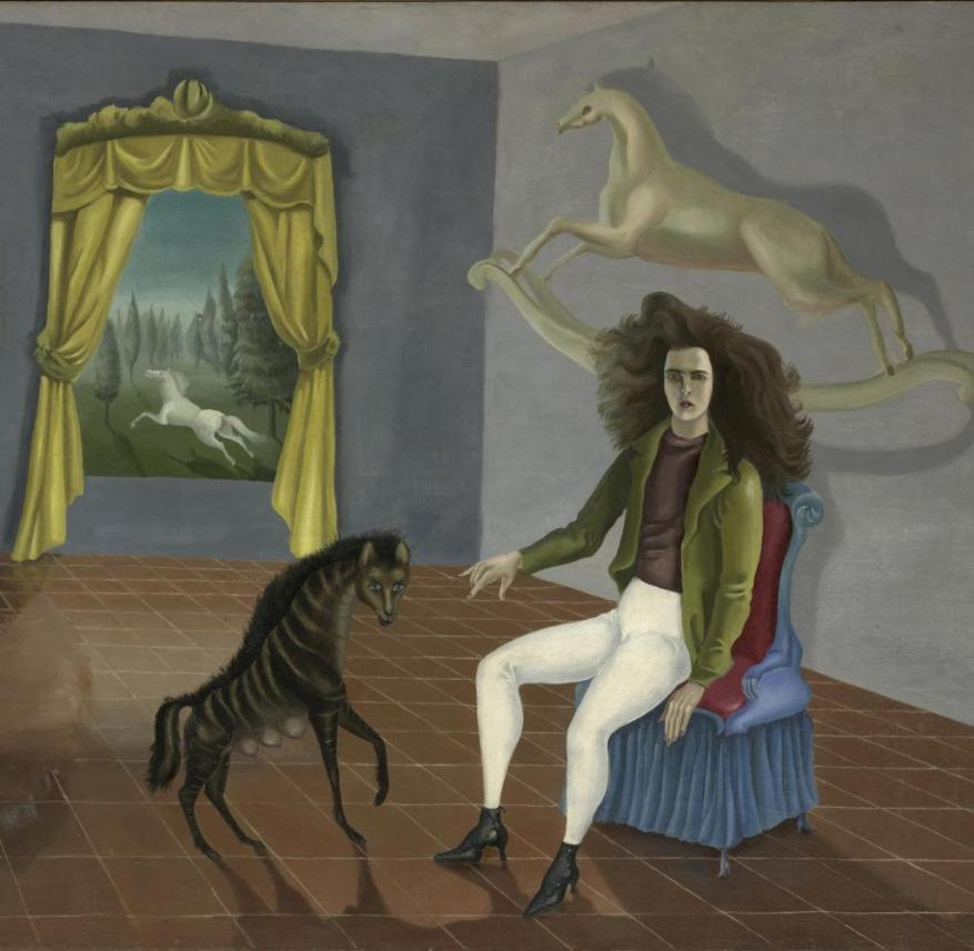 Oil on canvas (ca.1937-38), Leonora Carrington [1917] , Object size 25 9/16 x 32 in. (65 x 81.3 cm), The Pierre and Maria-Gaetana Matisse Collection, 2002, inventory number: 2002.456.1, Artist: Leonora Carrington The work shown is protected by copyright. Before publication, the user must obtain and compensate for: VG Bild-Kunst, 53113 Bonn, Weberstr. 61, www.bildkunst.de FOR USE ONLY IN GERMANY, SWITZERLAND OR AUSTRIA, Copyright: bpk   The Metropolitan Museum of Art