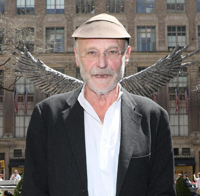 Anselm Kiefer at the unveiling of a 2018 sculpture in New York