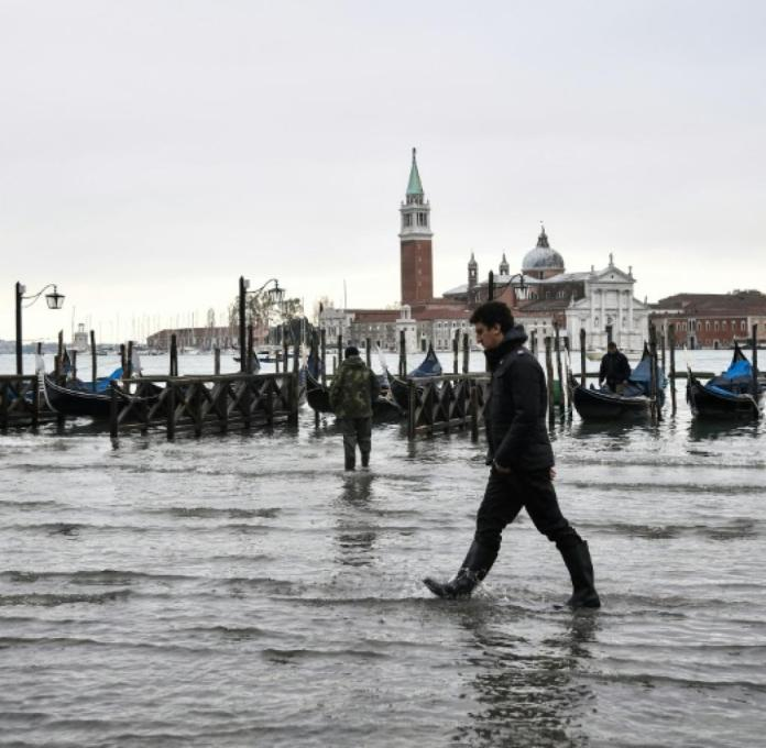 Highest flood in Venice for more than 50 years