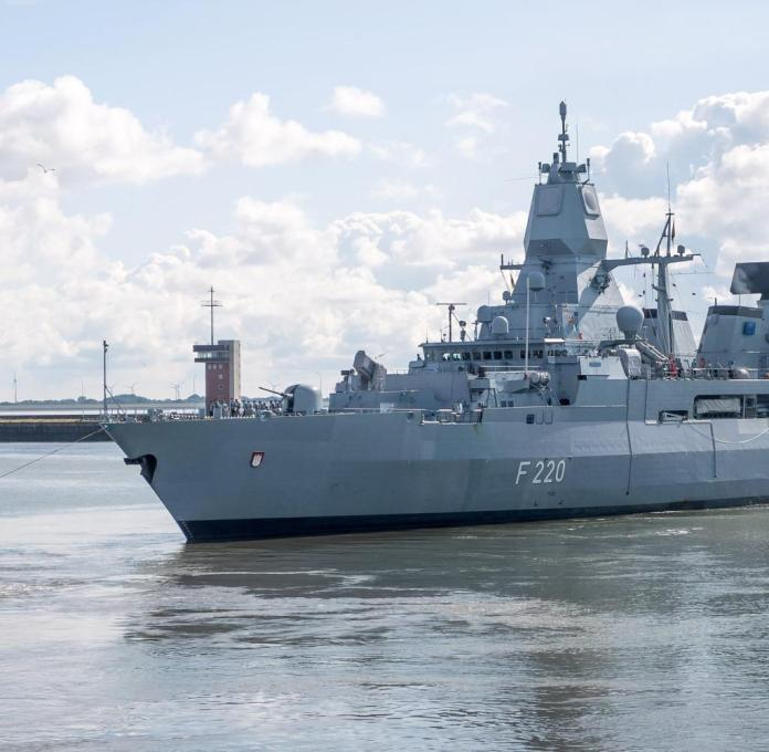"frigate ""Hamburg"" for Libya use"