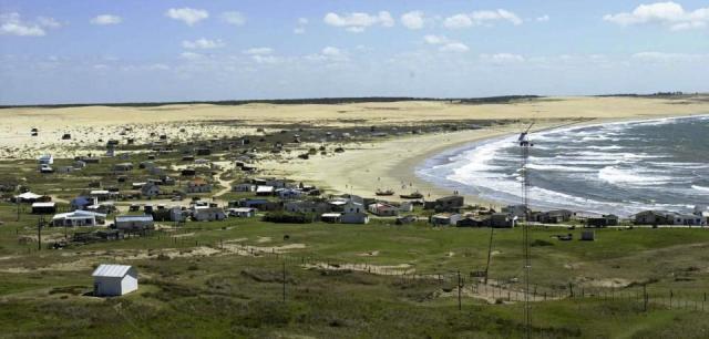 Der Strand von Cabo Polonia in Uruguay