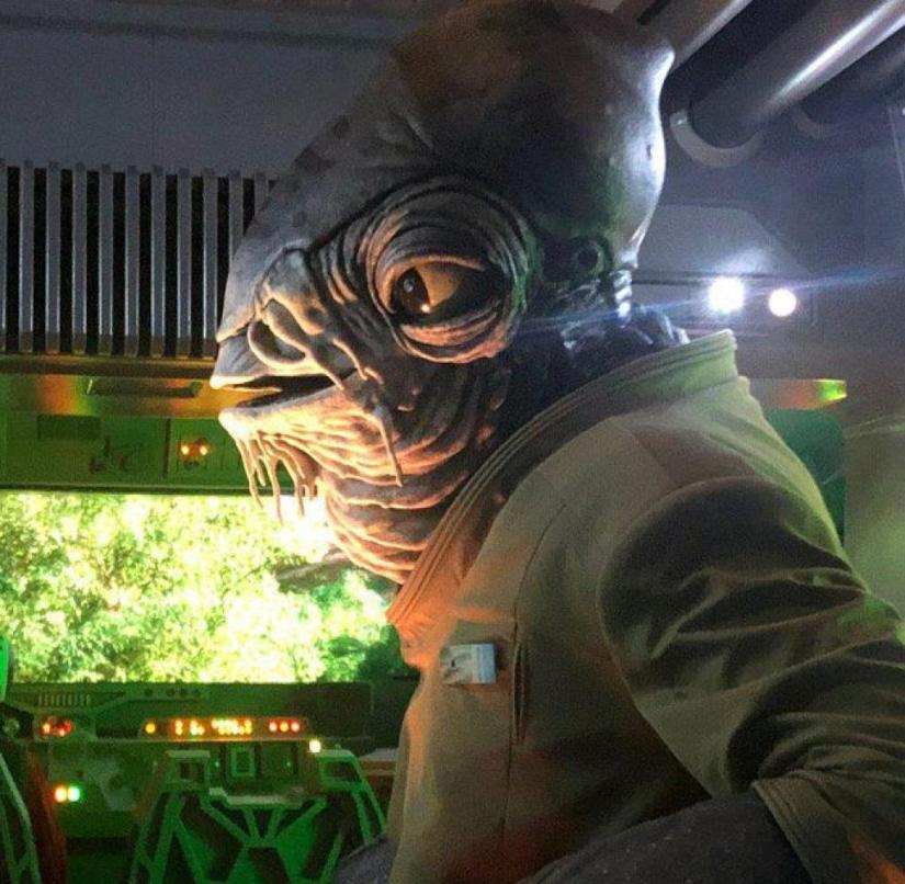 """""""Star Wars""""-Leisure Park """"Galaxy's Edge"""" in Florida: Mon Calamari officer Bek in the hijacked ferry to the"""