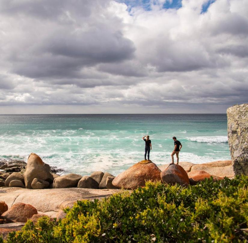 The Bay of Fires, named after the fires of the indigenous people