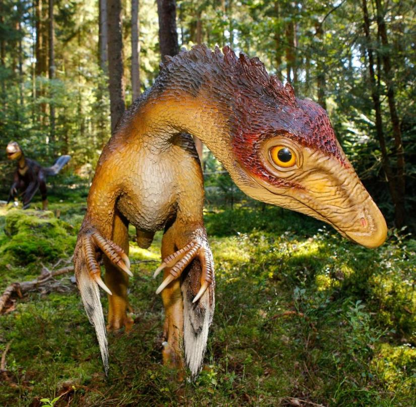 Bavaria: In the Altmühltal Dinosaur Park in Denkendorf there are 70 lifelike replicas of dinosaurs and other prehistoric animals