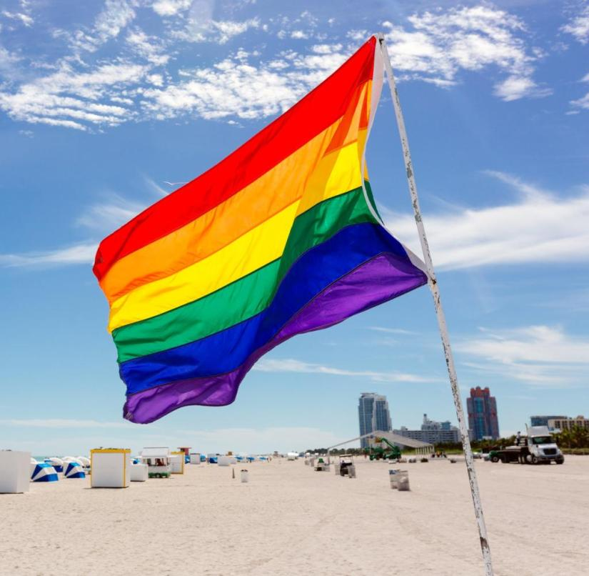 In many places around the world, homosexuals cannot move around as freely as here on the beach in Miami