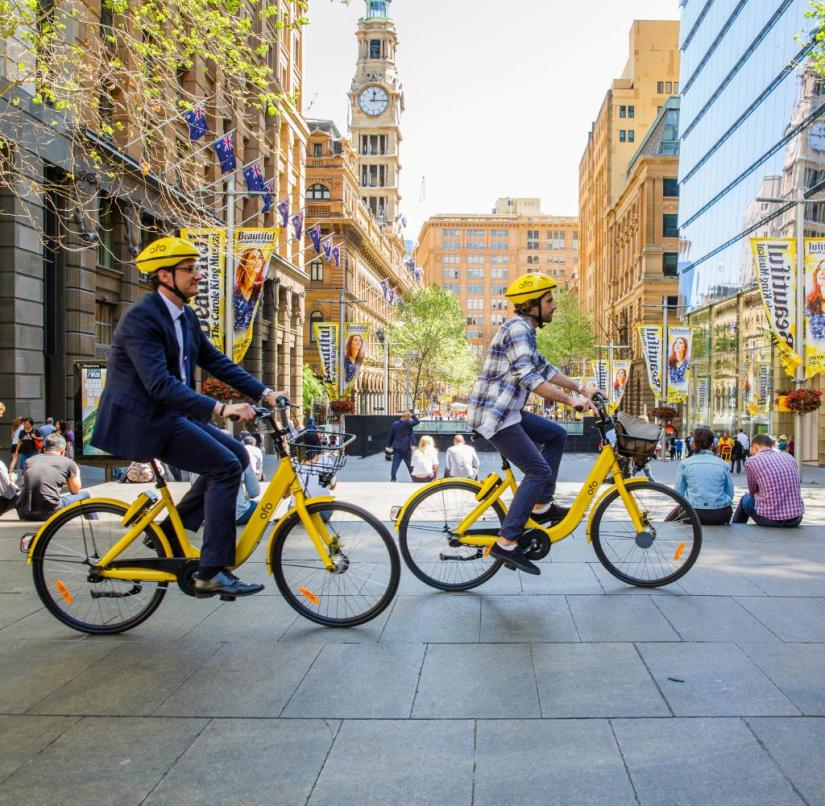 Australia: Downtown Adelaide is cyclist-friendly - locals and tourists can hire bikes