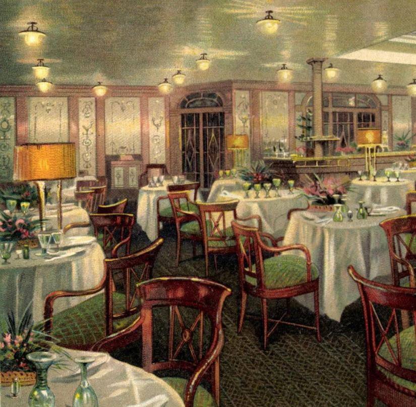 "Cruise ship: On the luxury liner ""Augusta Victoria"", guests could dine classy, ​​but they had to share the toilet and bathroom with others"