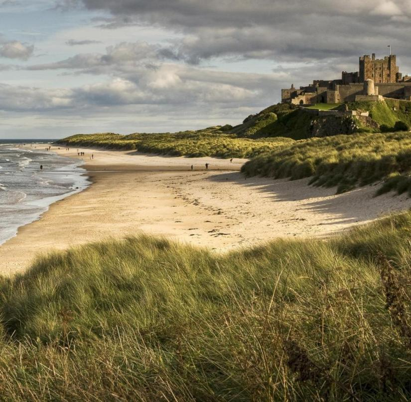 England: Visitors can also spend the night in Bamburgh Castle on the North Sea coast