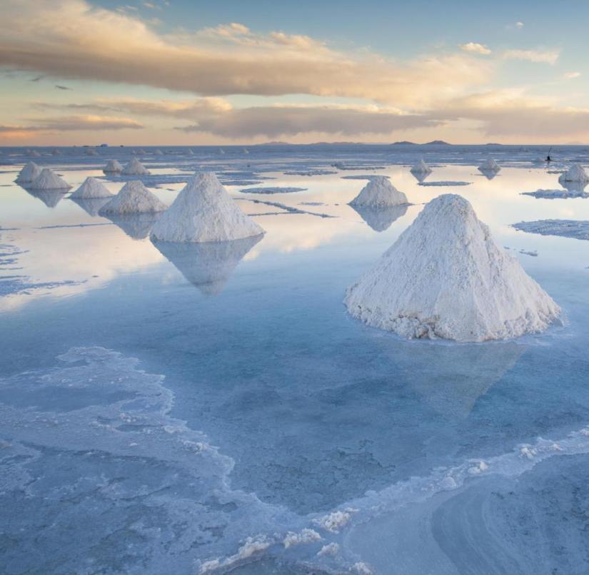 The Salar de Uyuni salt flats in Bolivia