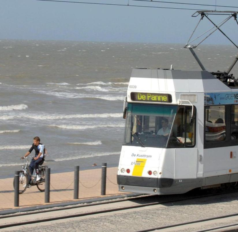 Belgium: Almost the entire coast is accessible by a tram, some of which runs right along the beach