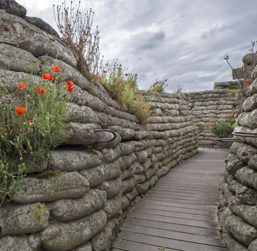 Belgium: In Diksmuide you can visit the last originally preserved trench from the First World War