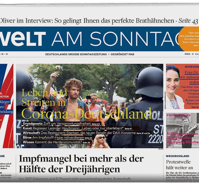 WELT AM SONNTAG from August 30, 2020