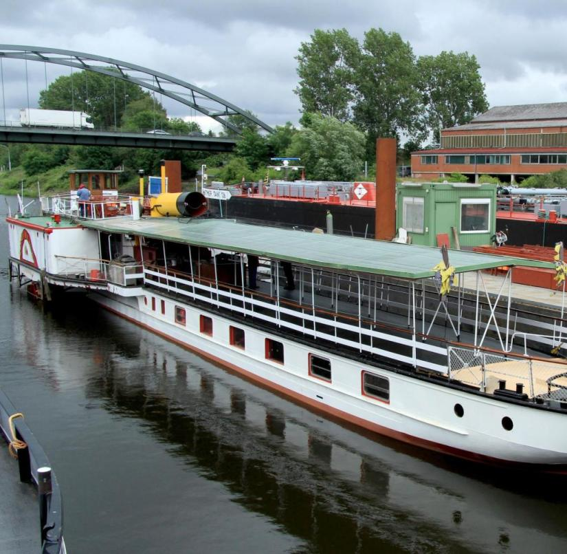 "Lauenburg: The paddle steamer ""Kaiser Willhelm"" from 1900 is being restored by volunteers"