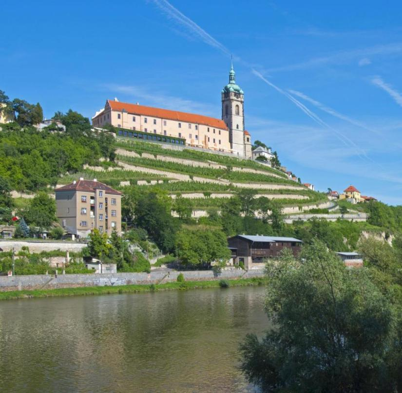 Bohemian wine town in the Czech Republic: Melnik Castle proudly towers over the Elbe river, and there are tastings in the historic wine cellar