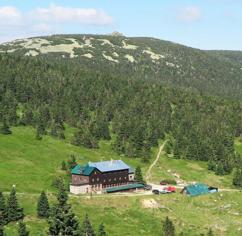 Czech Republic: You can see mountain chalets everywhere in the mountains.  Hikers can stop here and strengthen themselves
