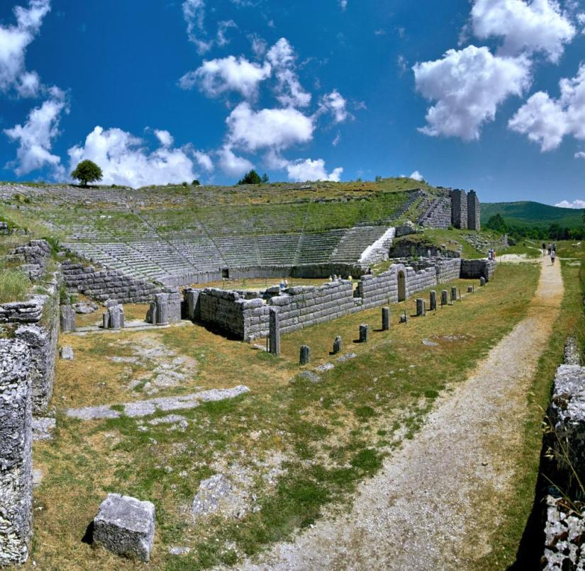 Epirus (Greece): The amphitheater of Dodona had a capacity of 18,000 people