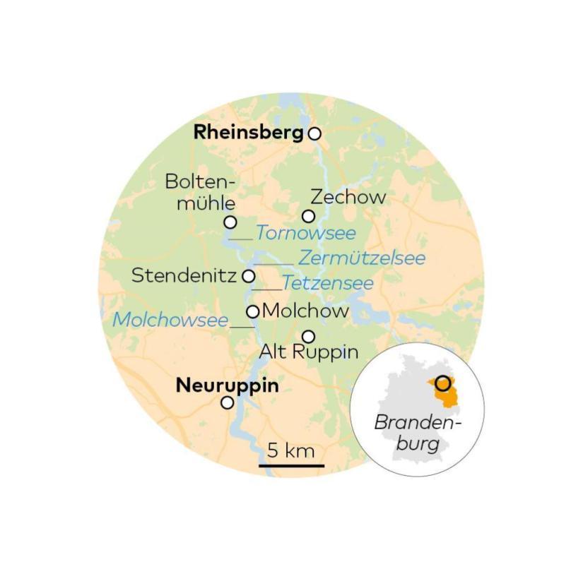 Ruppiner Switzerland in Brandenburg