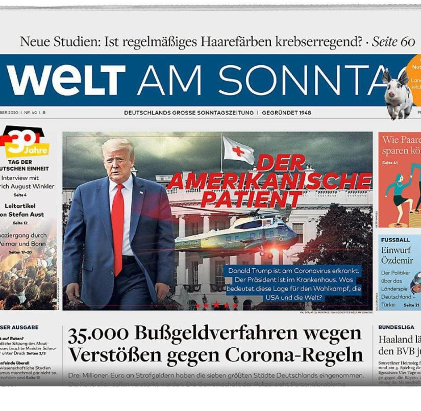 Welt am Sonntag from October 4, 2020