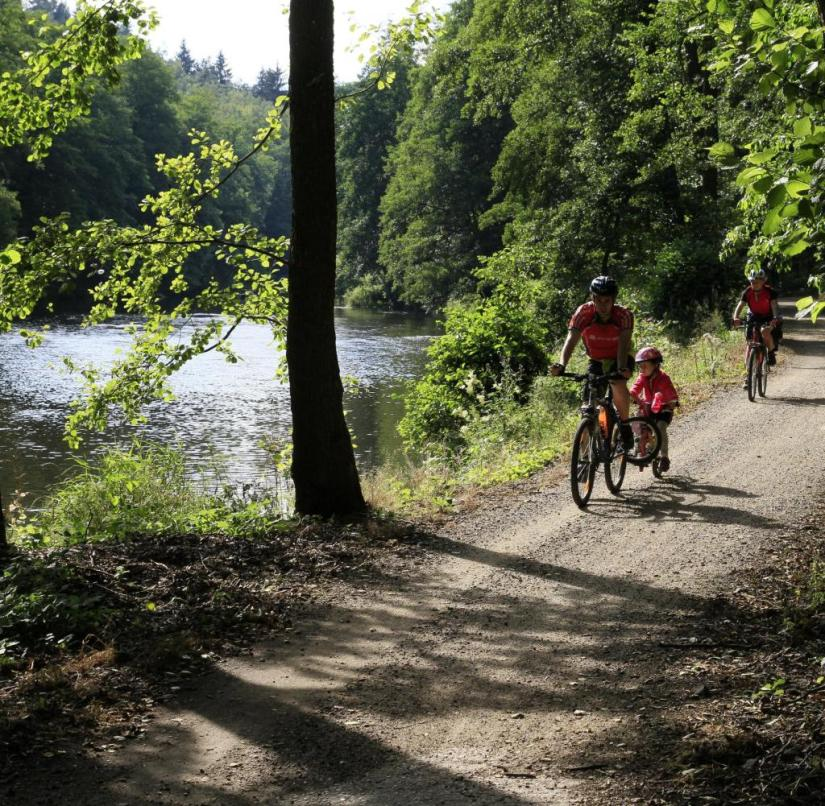Czech Republic: The 300-kilometer cycle path often runs parallel to the river
