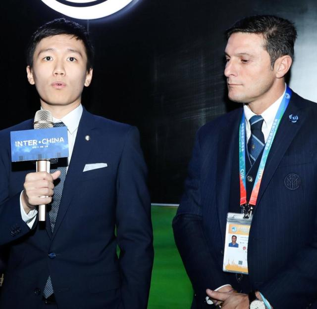 Javier Zanetti, Steven Zhang destacan la actividad del Inter de Milán en CI